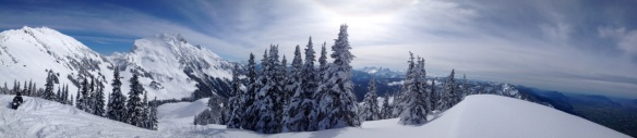 The classic I-phone panoramic from the lookout over the Fraser Valley. There is another lookout up the Thurston side that is easier to access now that the club grooms over to that side.