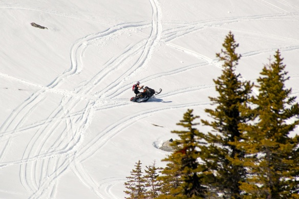 Sandra working on her side hills. Photo: Ryan Bayes